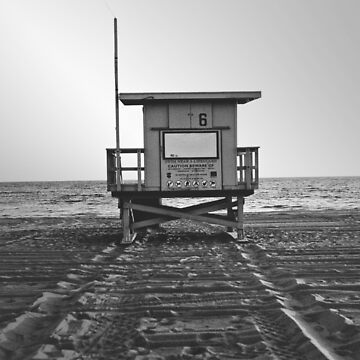Lifeguard tower black and white by franceslewis