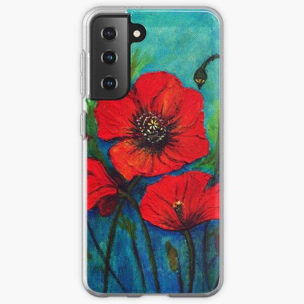 Remembrance Day Poppies Samsung Galaxy Soft Case