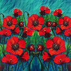 Remembrance Day Poppies by A little more Whirl