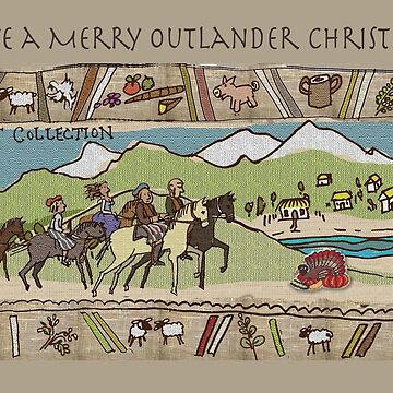 Christmas Card Gabeaux Tapestry No. 3 by jennyjeffries