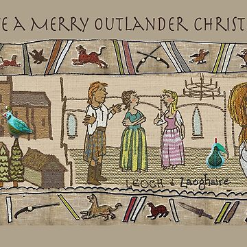 Christmas Card of Gabeaux Tapestry No. 4 by jennyjeffries