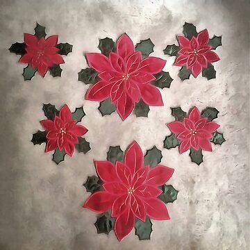 Christmas Poinsettia by taiche
