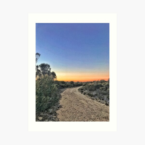 Sunset on the trail Art Print