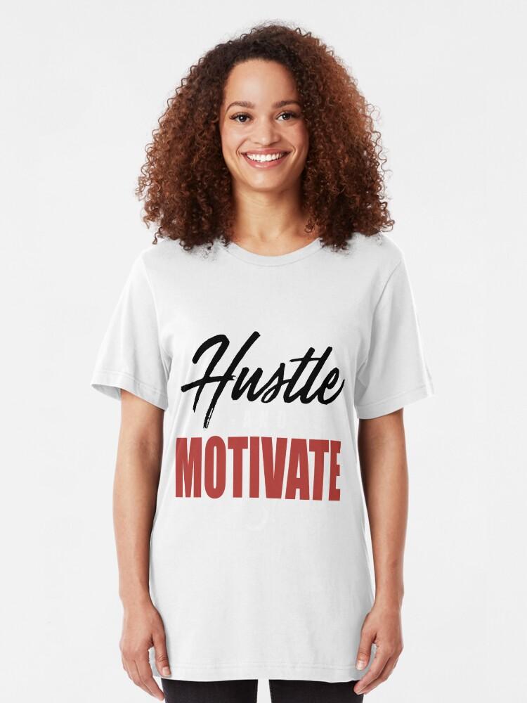 WYD Hustle _ Motivate Tee Grey Black Red NIPSEY HUSSLE VICTORY LAP hustle |  Slim Fit T-Shirt
