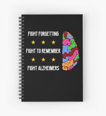Fight Forgetting Fight To Remember Fight Alzheimers Spiral Notebook