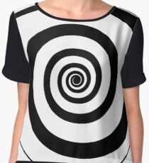 #target #aim #accurate #dart #accuracy #hittarget #dartboard #archery #bullseye #spiral #goal #circular #license #arrow #patent #design #vortex #blackandwhite #monochrome #copyspace #circle  Chiffon Top