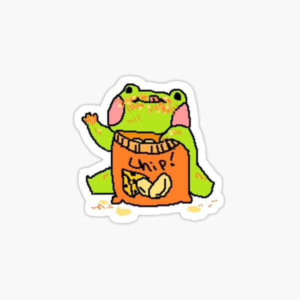 Snack Frog! Sticker