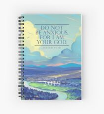 YEARTEXT 2019 (Pastel Sky) Spiral Notebook