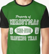 Property Egg Nog Drinking Team Graphic T-Shirt