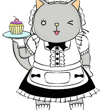 Cat series- maid cafe (colour) by RayRay000