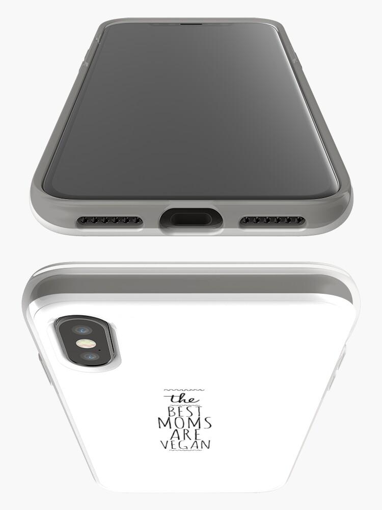 Vista alternativa de Funda y vinilo para iPhone My Vegan Mom Funny Gift Idea