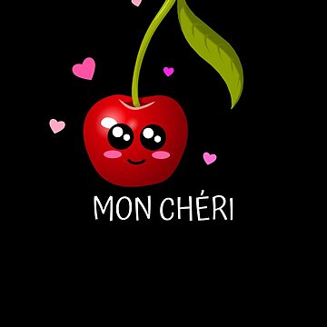 Mon Chéri Cute Cherry Pun by DogBoo
