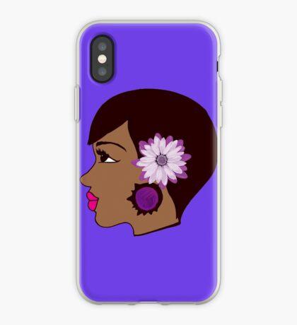 Blumen-Frauen-Schwarz-Königin-Sommer-Kleid iPhone-Hülle & Cover