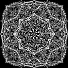 Meditation Square Mandala Hand Drawn Geometric Pattern - Yoga Gifts, Boho Gifts by Leah McNeir
