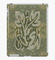Olivgrünes dekoratives Design iPad-Hülle & Klebefolie