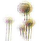 Abstrakte Sommer-Blumenbäume # 3 von Van Nhan Ngo