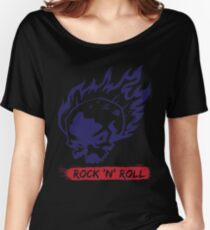 Ride Skull Fire Rock And Roll Cool Vintage Gift Women's Relaxed Fit T-Shirt