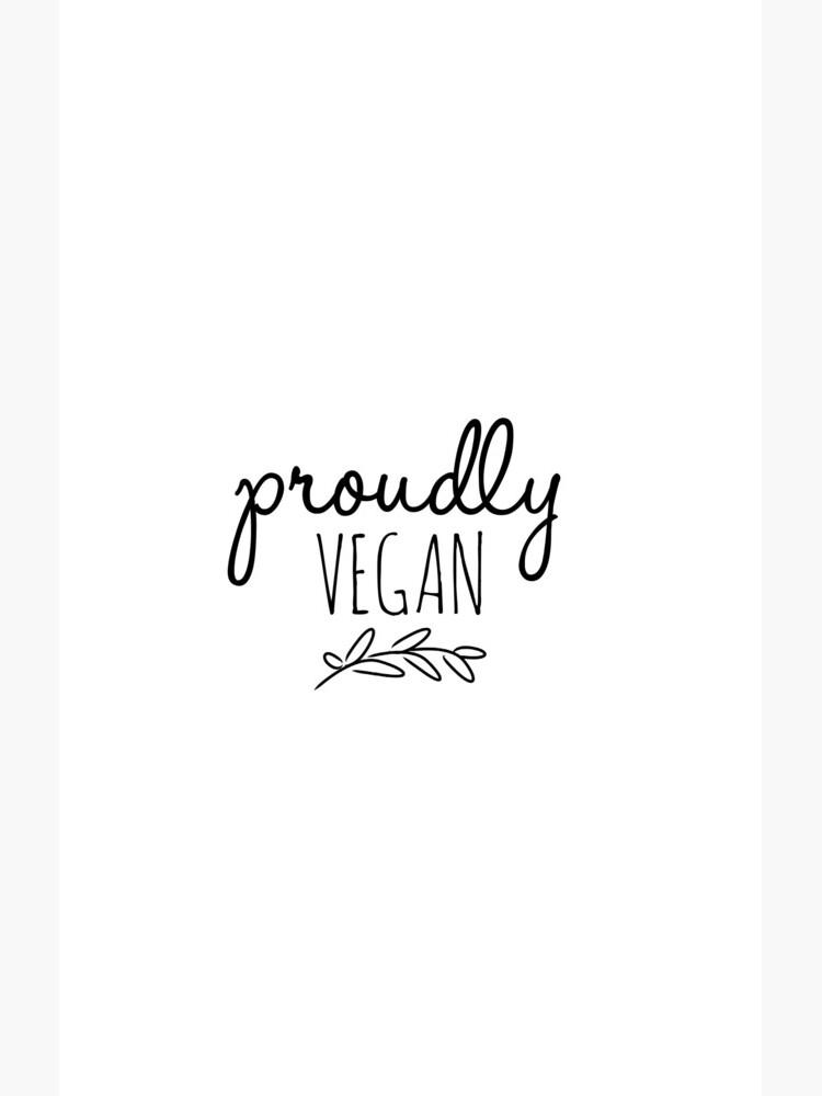 Proudly Vegan Pride Funny Gift Idea de FunnyGiftIdeas