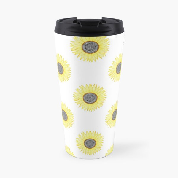 Goldene Mandala Sonnenblume Thermobecher