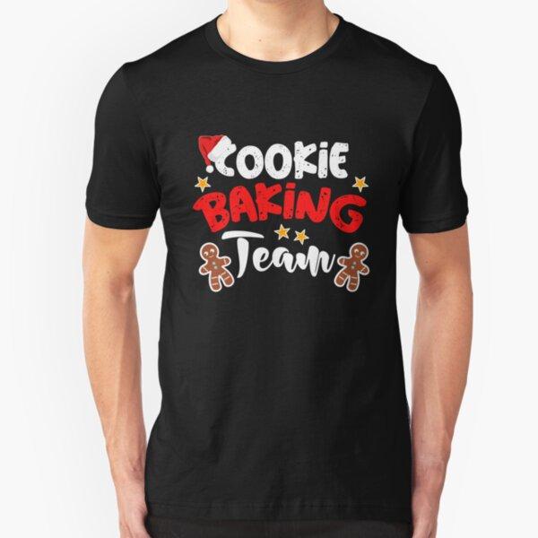 Christmas Baking Team Couple Gift Cookies Funny T-Shirt Baker Xmas Family