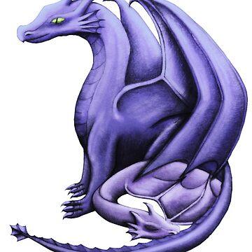 Purple Dragon Family by shaneisadragon