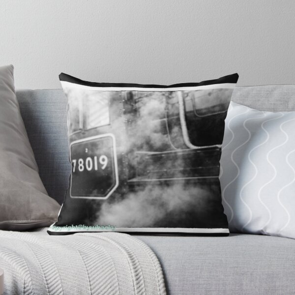78019 gets steamed up Throw Pillow