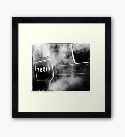 78019 gets steamed up Framed Print