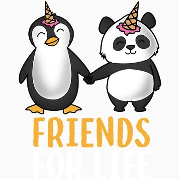 Friends for life penguin and panda gift by LikeAPig