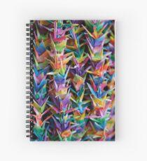 Paper Cranes at Fushimi Inaritaisha Spiral Notebook