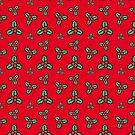 Fröhliche Holly - Rot von CleverCharles