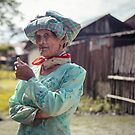 Porträt einer Dame im Dorf von Mohit Sebastian