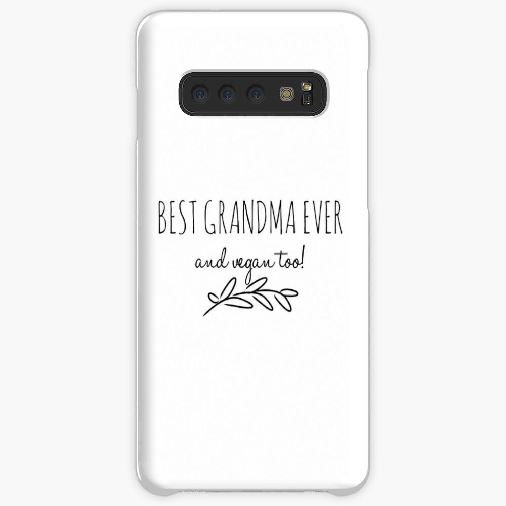 Best Grandma Vegan  Funny Gift Idea Funda y vinilo para Samsung Galaxy