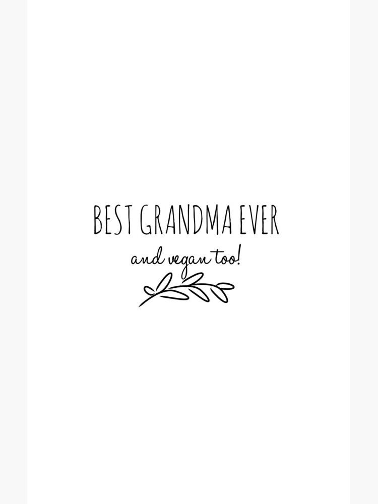 Best Grandma Vegan  Funny Gift Idea de FunnyGiftIdeas