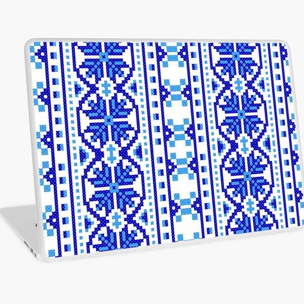 #UkrainianFolkCostumePattern #ukrainianfolk #costumepattern #ukrainian #folk #costume #pattern #decoration #ornate #abstract #textile #creativity #fashion #repetition #vertical #colorimage #retrostyle Laptop Skin