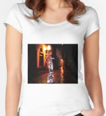 High Fashion Haute Couture Fine Art Print Women's Fitted Scoop T-Shirt