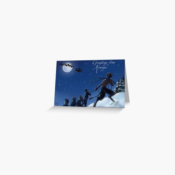 Krampus by Moonlight Greeting Card