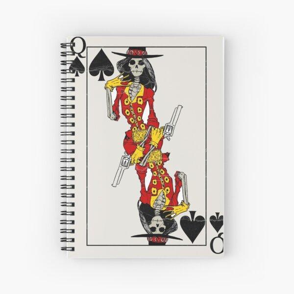 Queen of Spades Spiral Notebook