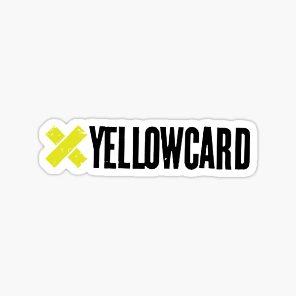 yellow card  Sticker