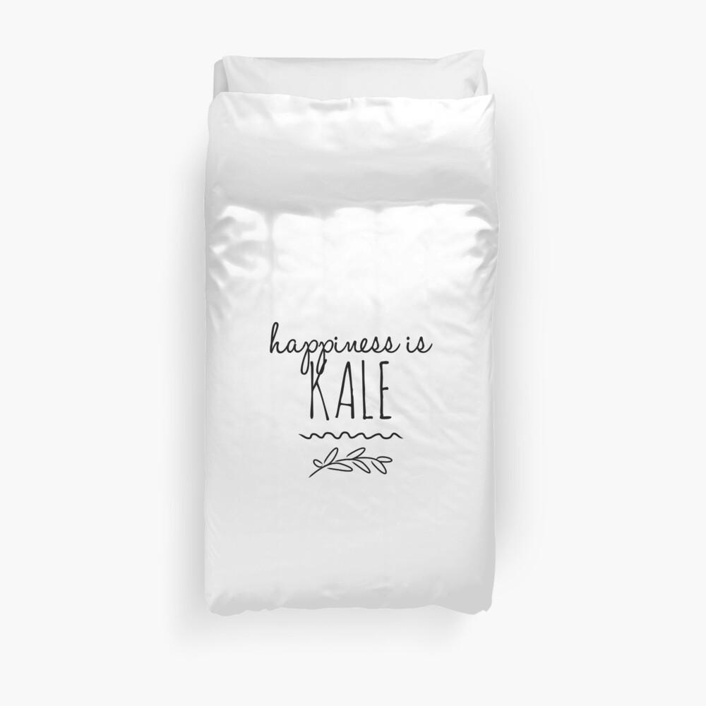Happiness Is Kale Funny Gift Idea Bettbezug