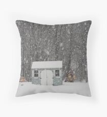Toy Shed Throw Pillow