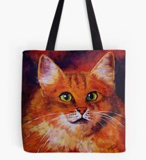 Longhaired Ginger Cat Tote Bag
