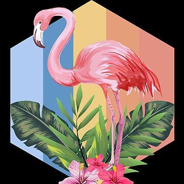 Flamingo tropics by GeschenkIdee