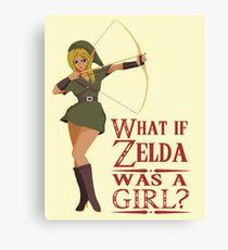 What if Zelda was a girl? (it's a joke) Canvas Print