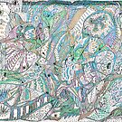 Jungle Life Squiggle by Julie Diana Lawless