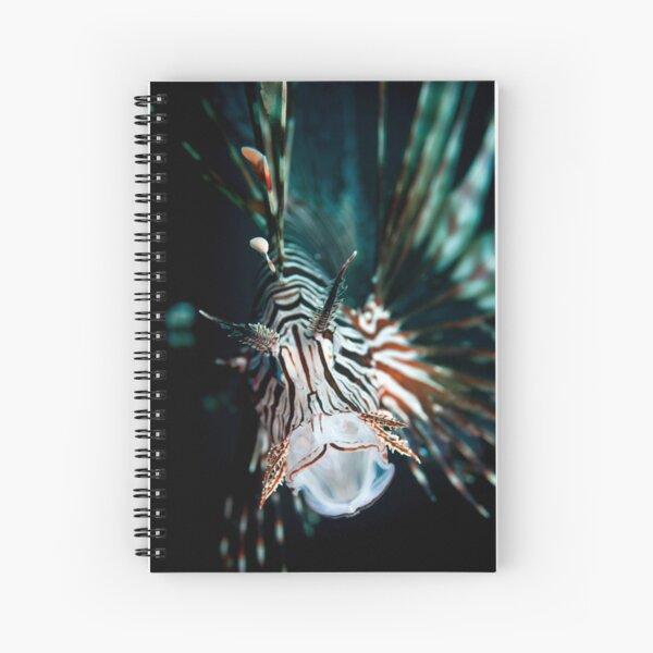 Yawning lionfish  Spiral Notebook
