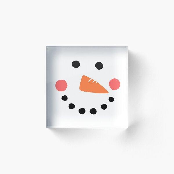 Snowman Face Acrylic Block