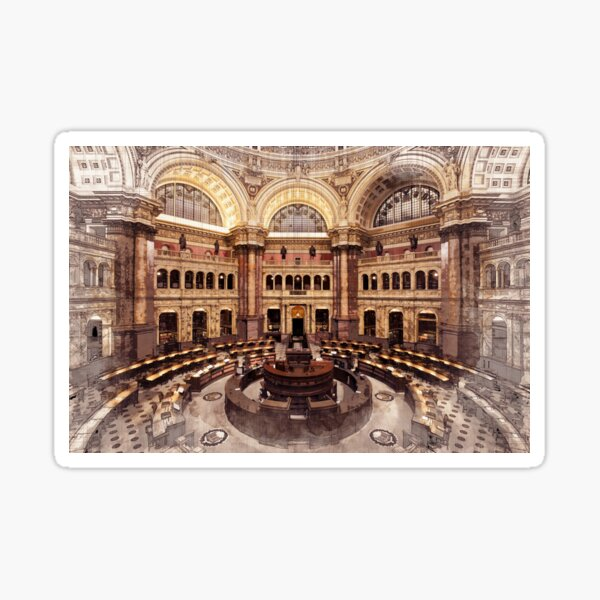 Library of Congress Main Reading Room Sticker
