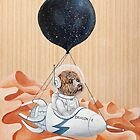 Poodle dog - Mission to Mars - Spacex - Space dog by Ruta Dumalakaite