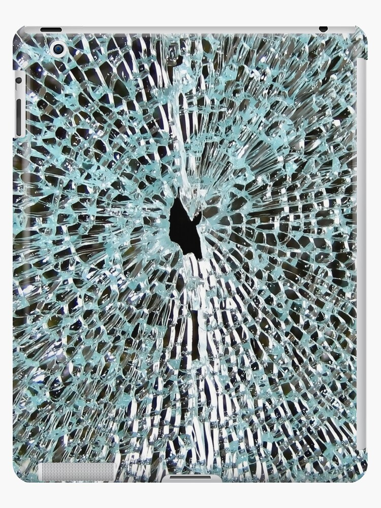 'shattered glass broken phone screen' iPad Case/Skin by closeddoor