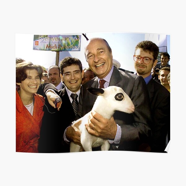 Chirac and the goat Poster